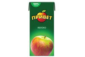 Сок Привет Яблочный 0,95 л